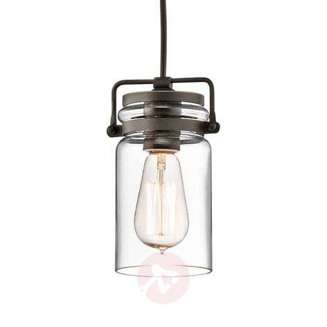 Glass hanging lamp Brinley one-bulb-3048602-31