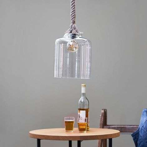 Glass hanging lamp Judith with a maritime design-9005206-31