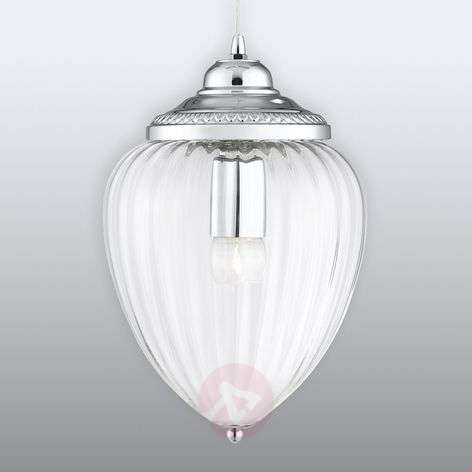 Glass hanging light Pendants with grooves