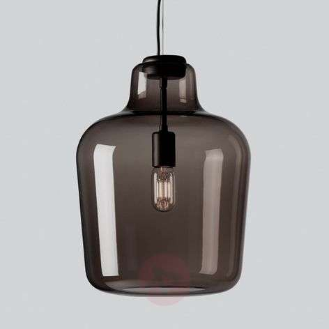 Glass hanging light Say my name, smoky grey