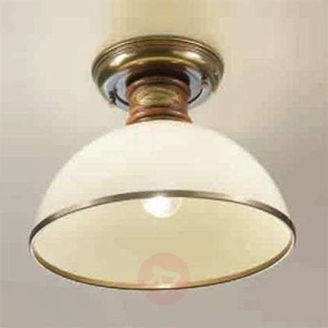 Glass Libeccio ceiling light, ivory