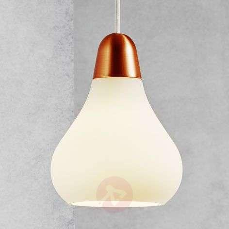 Glass pendant lamp Bloom, 16 cm