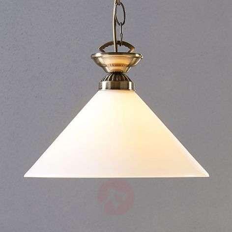 Glass pendant lamp Otis, antique brass-9621031-33