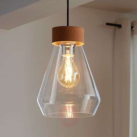 Glass pendant light Brixham