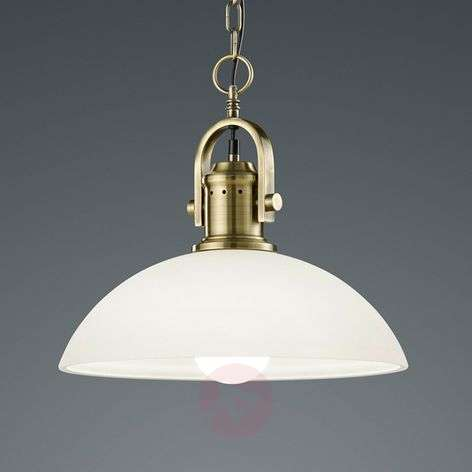 Glass pendant light Montender with antique design