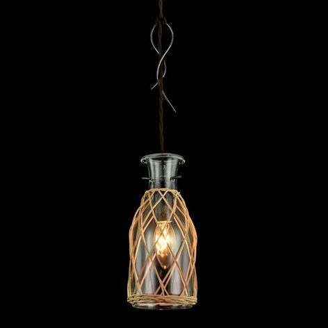 Glass pendant light Rappe in decorative design