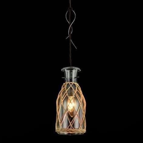 Glass pendant light Rappe in decorative design