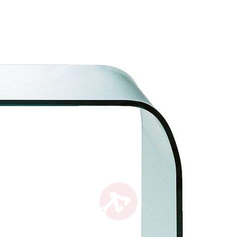 Glass table Fontana with rounded edges