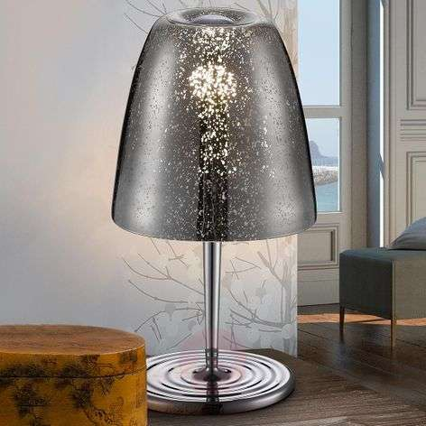 Glass with chrome finish - Quasar table lamp