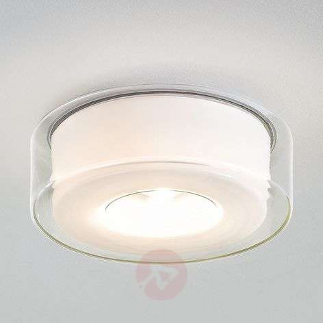 Glazed LED designer ceiling light Curling
