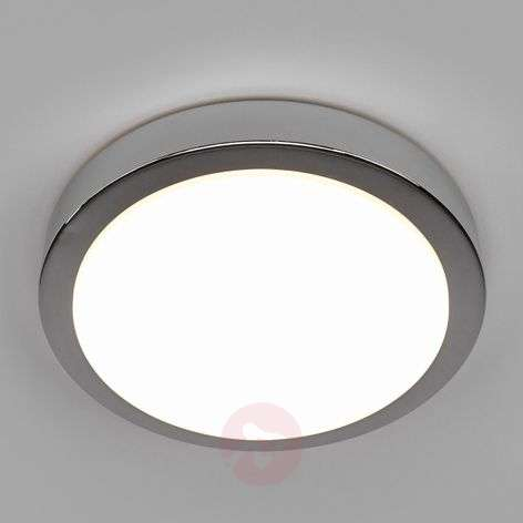 Glossy chrome Aras bathroom LED ceiling lamp