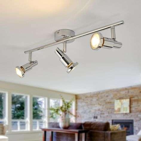 Glossy chrome LED ceiling lamp Thom, GU10