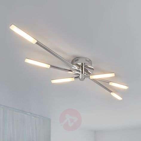 Glossy chrome LED ceiling light Natalia