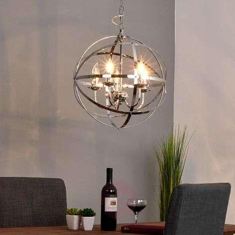 Glossy chrome Patrisia pendant lamp