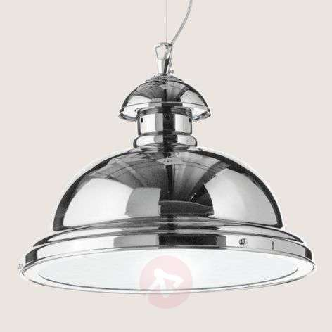 Glossy chrome-plated Scirocco hanging lamp