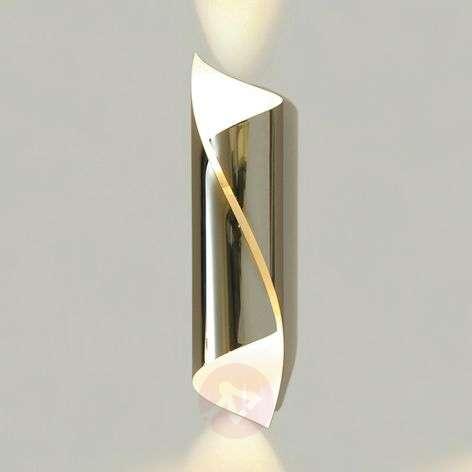 Glossy chrome wall light Hué, 37 cm tall