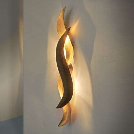 Glossy gold LED wall light Corallo