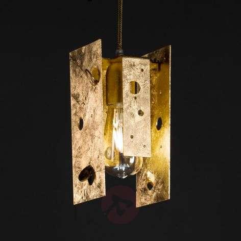 Glossy golden designer LED hanging light Buchi