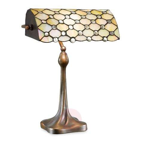 Glossy mother-of-pearl Sezilia table lamp