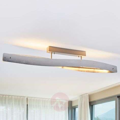 Glossy silver Lian LED ceiling lamp - dimmable