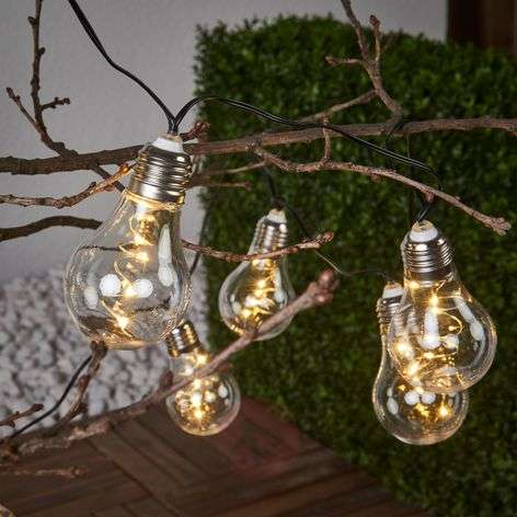 Glow clear string lights with solar power-1523091-31
