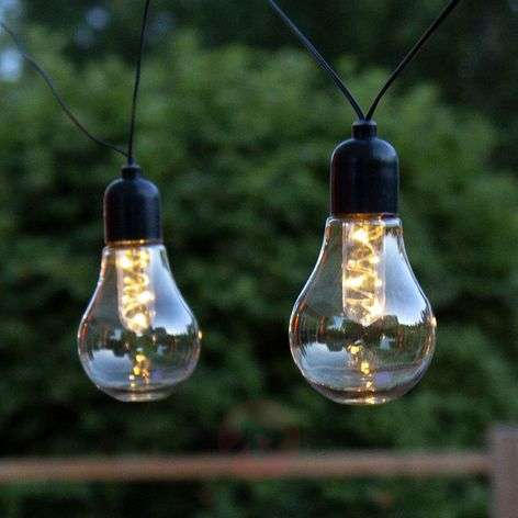 Glow LED string lights, battery, clear