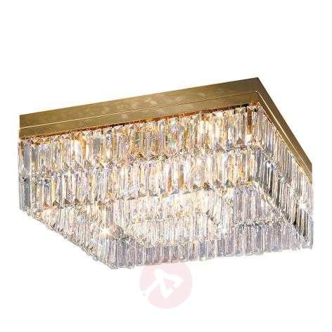 Gold ceiling light PRISMA square