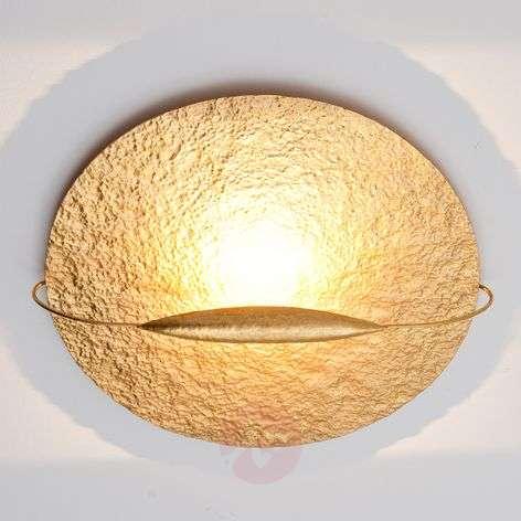 Gold-coloured LED ceiling lamp Satellite