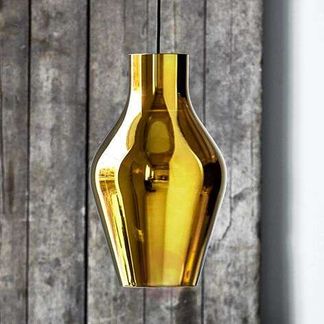 Gold-coloured LED pendant lamp Blow made of glass
