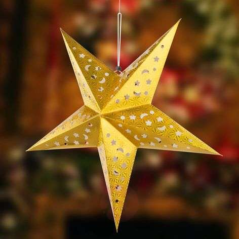 Gold-coloured paper star X-Mas 3D with LEDs-4015106-32