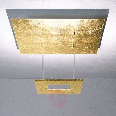 Gold leaf pendant lamp Zen with LED