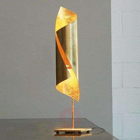 Gold leaf table lamp Hué, 70 cm tall