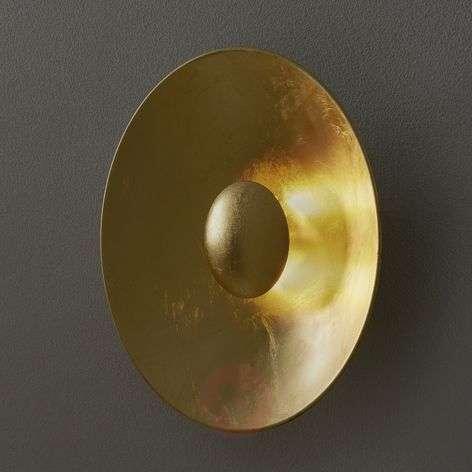 Gold leaf wall light Aura Sol