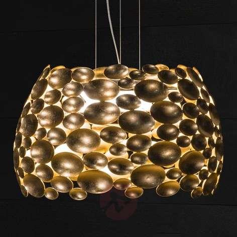 Gold-plated Anish LED pendant light