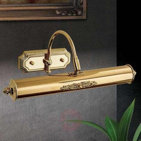 Gold-plated Gustav brass picture light