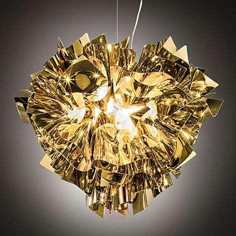 Gold Veli hanging light, 42 cm
