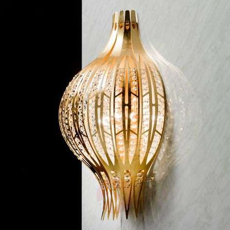 Gold wall light Jasmine with Swarovski elements