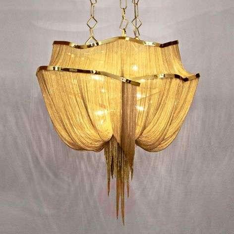 Golden Atlantis designer hanging light 90 cm