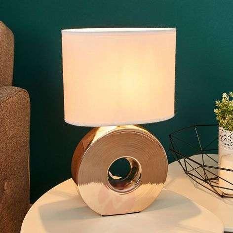 Golden ceramic base - Eye table lamp 38 cm