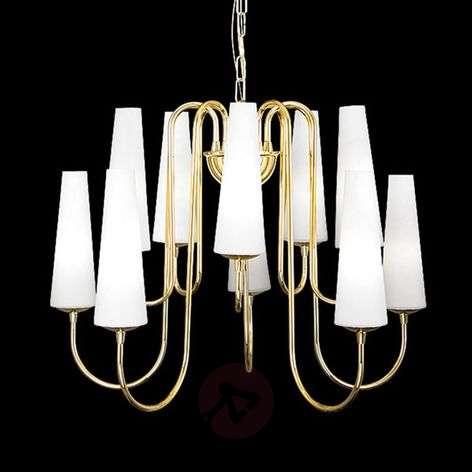 Golden chandelier Magnum, 10-bulb
