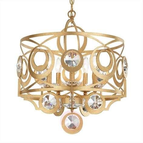 Golden crystal hanging light Gwynn