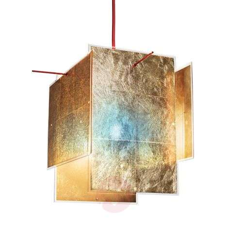 Golden designer hanging light 24 Karat Blau