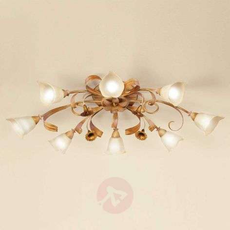Golden Florentine ceiling light Giovanni