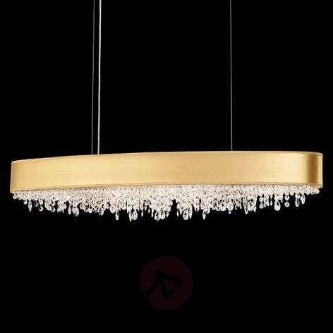Golden hanging light Eclyptix with crystals