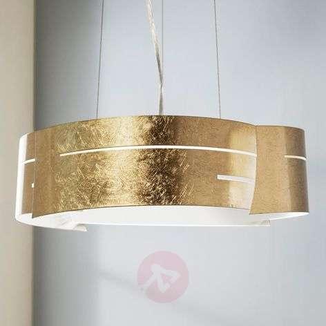 Golden LED pendant lamp Keyron made from metal