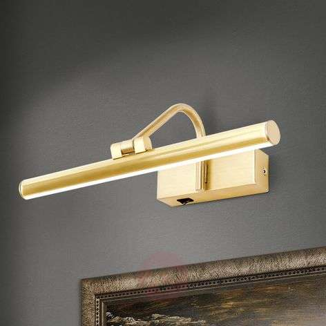 Golden LED picture light Sofia