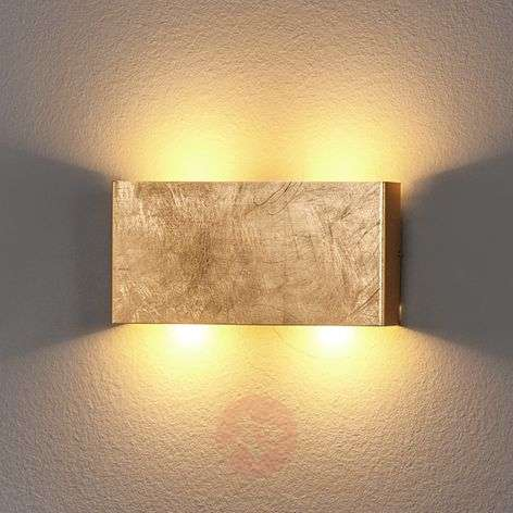 Golden Maja LED wall light, dimmable