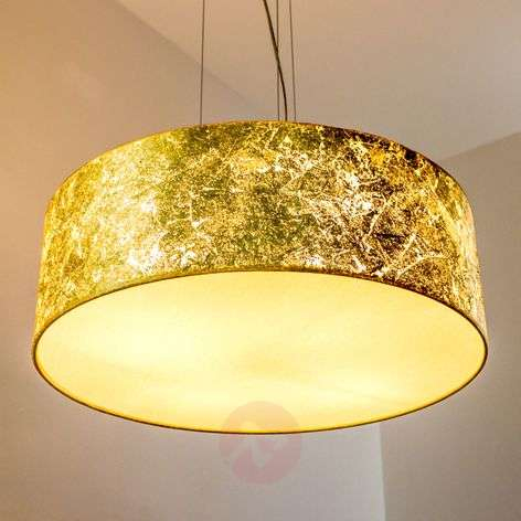 Golden pendant light Aura - made in Germany