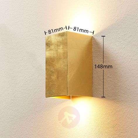 Golden wall lamp Tabita made from metal, 2 bulbs