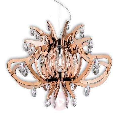 Graceful Lillibet designer pendant light, copper